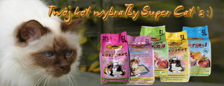 Super Cat's – ekologiczne żwirki i ściółki dla małych i dużych